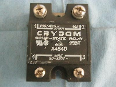 Crydom Model:  A4840 Solid State Relay. 90-280V Input.  280/480V Output.  40A <