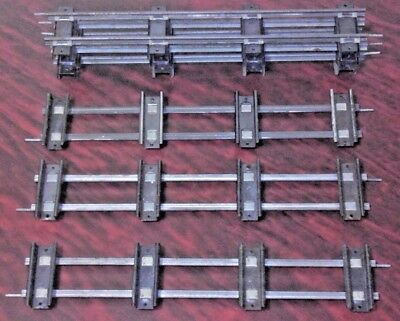 6 Original American Flyer Straight S Gauge Track Sections No. 700 or 26700