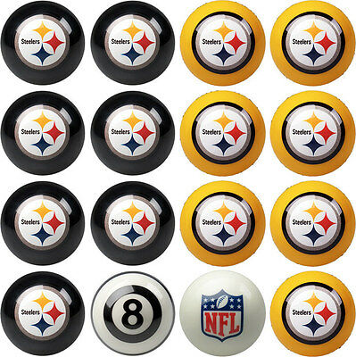 NFL Pool ball set - Pittsburgh Steelers Home and Away!! FREE US SHIPPING