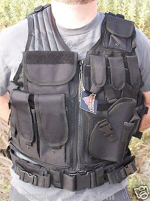 Red Rock Outdoor Gear Black Cross Draw Vest one size fully adjustable each E8082