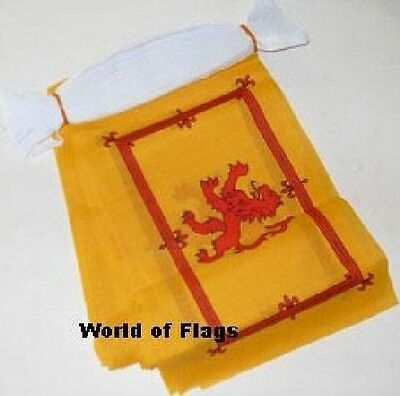 LION RAMPANT BUNTING Scotland Scottish Flag 9m 30 Fabric Party Flags 9 Metres