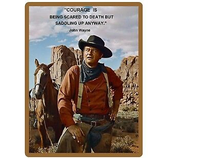 John Wayne Courage Quote  Refrigerator / Tool  Box  Magnet