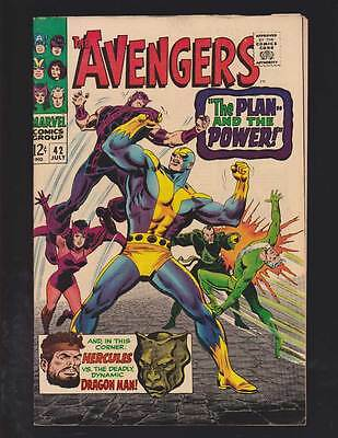 Avengers # 42  The Plan--and the Power  grade 8.5 movie scarce hot book !!