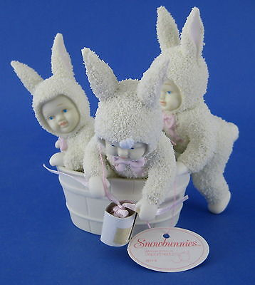 Snowbunnies Rub A Dub 3 Bunnies In Tub Springtime Stories Department 56