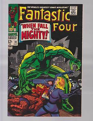 Fantastic Four # 70  When Fall the Mighty !  grade 8.5 scarce hot book !!