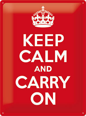 Keep Calm and carry on XL Blechschild 30x40 cm 23183
