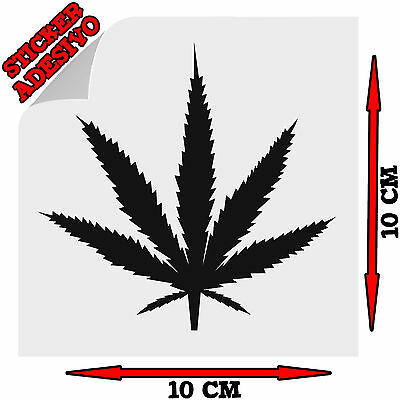 Sticker Adesivo Decal Marijuana Erba Weed Cannabis Ganja Smoker Auto Moto Tuning