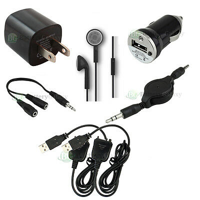 7 pc Kit USB Cable+Car+Battery Wall Charger for Palm Tungsten T5 E2 TX LifeDrive