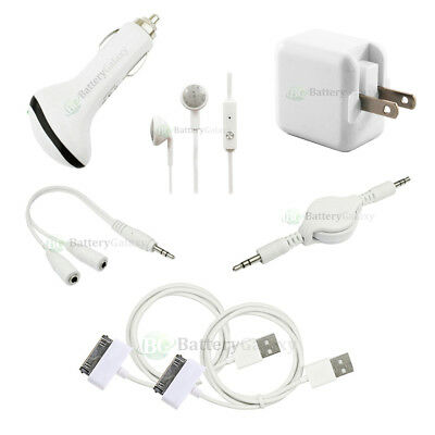 7pc NEW USB Cable+Car+Wall Charger for Android Samsung Galaxy Note 1 2 7.0 10.1