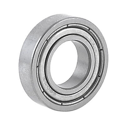 19mm x 10mm x 5mm 6800Z Radial Shielded Deep Groove Ball Bearing Silver Tone