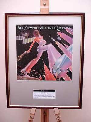 Rod Stewart Atlantic Crossing Original Framed Album Lp Cover Artwork