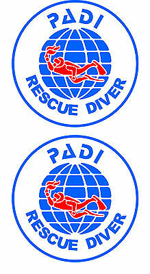 2 Rescue Diver stickers  FREE SHIPPING