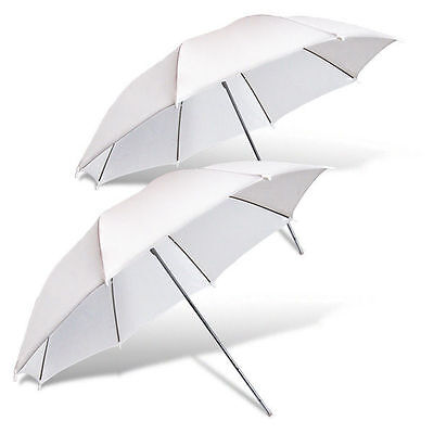 "2 x 33"" Photograph Video Studio Flash Lighting Soft White Umbrella Translucent"
