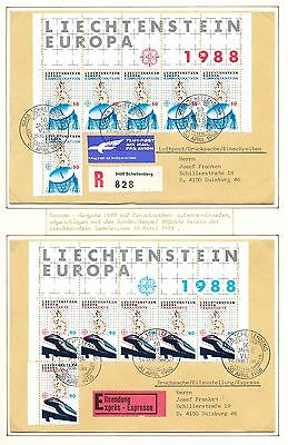 Michel 937/38 on 2 FDC's