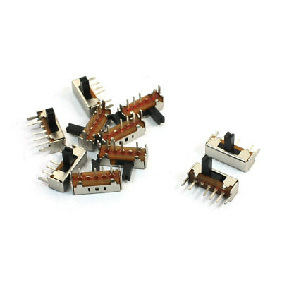 10Pcs 4Pin PCB 3 Position On/On/On 1P3T Miniature Slide Switch Right Angle