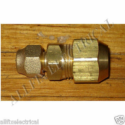 """Brass 1/4"""" to 1/2"""" Reducing Union With Flare Nuts - Part # RF702KIT"""
