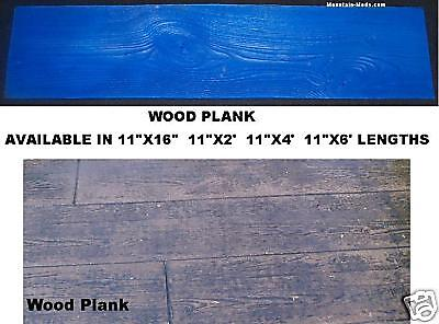 "16"" Rigid Wood Plank Woodgrain Decorative Concrete Cement Stamp Mat Vertical"