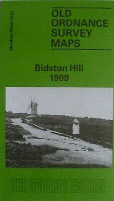 Old Ordnance Survey Detailed Maps Bidston Hill  Cheshire 1909 Godfrey Edition