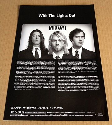 2005 Nirvana With The Lights Out JAPAN cd/dvd box set promo ad / advert / photo