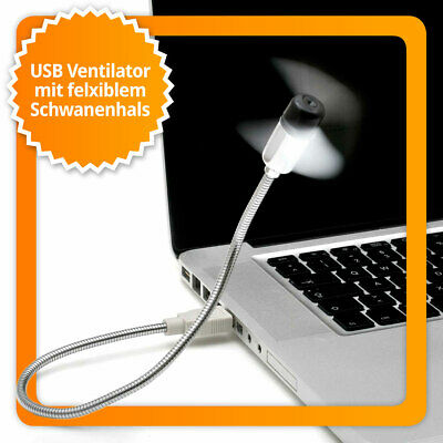 USB Ventilator mit Schwanenhals Notebook & Laptop Lüfter Fan Gadget