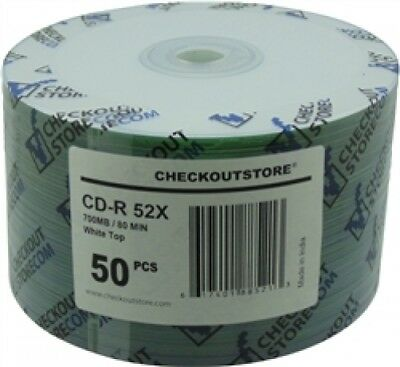 600 CheckOutStore 52x CD-R 80min 700MB White Top (Shrink Wrap)