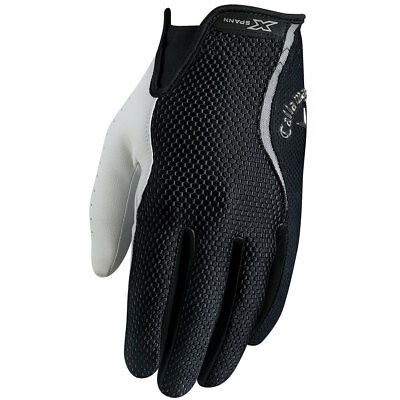 Callaway Golf Mens X Spann Cabretta Leather Palm Golf Glove LH - Black