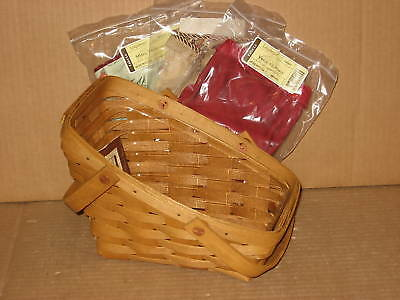 Longaberger Small Vegetable Combo Warm Brown Paprika Red + 2 More liners RARE!