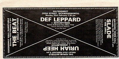 Def Leppard/Slade/Uriah Heep/The Beat-1980 magazine advert