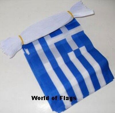 GREECE FLAG BUNTING Greek 9m 30 Polyester Fabric Party Flags Europe European