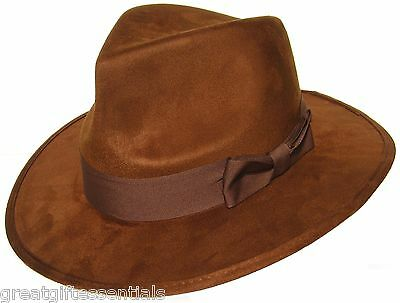 DOCTOR WHO HAT Fourth 4th Dr Fedora Brown Jones Tom Baker Costume BBC LICENSED