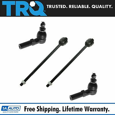 Front Inner /& Outer Tie Rod End Link Fits 2006-2011 Buick Lucerne /& Cadillac DTS