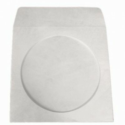 100 Tyvek CD/DVD Sleeves with Window & Flap