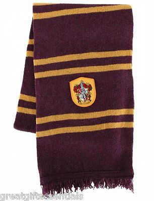 HARRY POTTER *LICENSED * Gryffindor House * REAL* LAMBS WOOL SCARF w/ CREST NEW!
