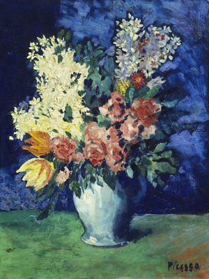 """1901 FLOWERS ART PRINT POSTER 14/"""" x 11/"""" 4156 PICASSO PABLO"""