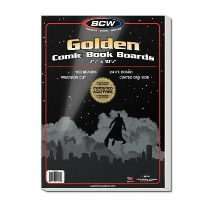 Case of 1000 BCW Golden Age Comic Book Backing Boards - Acid Free white backers