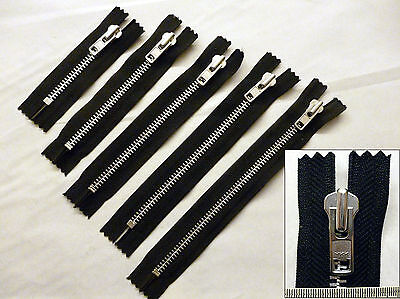 Zip, Zipper, Heavyweight, Closed End,Metal YKK,Black 3,4,5,6,7,8,9,10,12,15,20""