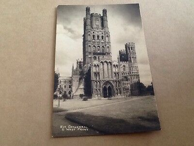 Old Postcard Of Ely Cathedral