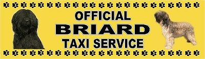 BRIARD OFFICIAL TAXI SERVICE  Dog Car Sticker  By Starprint