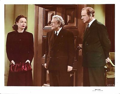 "JOAN CRAWFORD & MELVYN DOUGLAS in ""A Woman's Face"" Original Color Photo 1941"