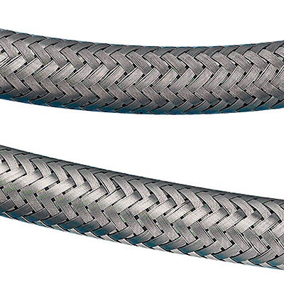 LMA Stainless Steel Overbraided High Pressure Fuel Hose - 8mm Bore