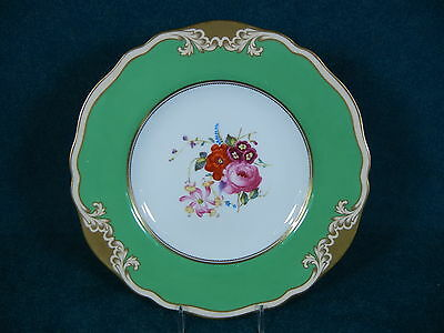 Copeland Spode R6370 Bone China Floral Cabinet Plate Sold by Plummer of New York