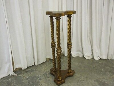 Vintage Wood Plant Stand Made in Italy Great Condition Empire Style Paint Finish