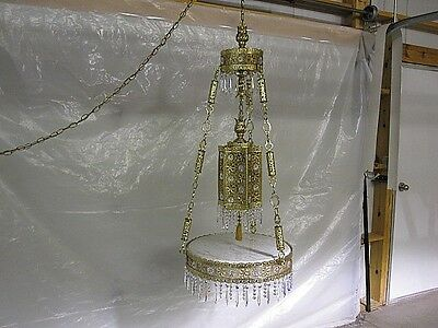 Hollywood Regency Swag Lamp w Italian Marble Top Table Extraordinary MINT COND