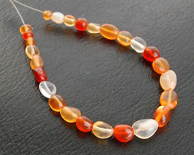 AAA Natural Fire Opal Smooth Polish Mix Shape Round Oval Beads