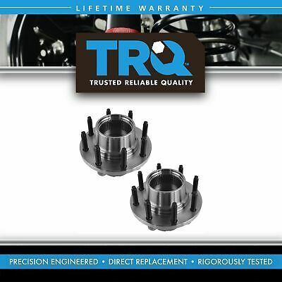 TRQ Front Wheel Hub & Bearing Pair Set for 99-04 Ford Super Duty Pickup 4WD 4x4