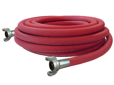 "3/4"" Jackhammer Jack Hammer Rubber Air Hose - 50 Ft - Made In Usa"