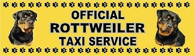 ROTTWEILER OFFICIAL TAXI SERVICE  Dog Car Sticker  By Starprint