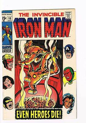 Iron Man # 18  Even Heroes Die !  grade 8.5 scarce hot book !!