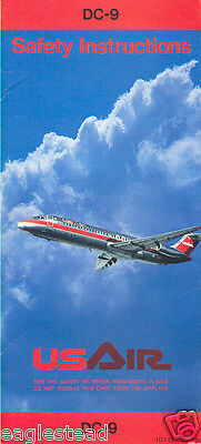 Safety Card - US Air - DC-9 - 1985 (S1408)