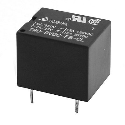 DC 9V Coil Voltage 5 Pin SPDT PCB Board Plug In Power Relay
